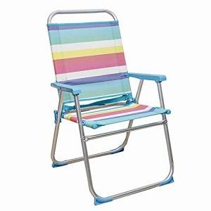Arcoiris Chaise De Plage Pliante, Chaise en Aluminium, Tube 22 / 19mm, Tissu Texilène (1 Unidad, Multi Color)