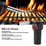 BOLORAMO Ventilateur de Gril, Ventilateur de Barbecue en Alliage d'aluminium et PP alimenté par Batterie Portable et Facile à Utiliser pour Le Camping de Pique-Nique en Plein air