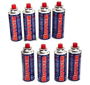 BRAVO HOME Butsir Gas 227gr Pack 8 x Cartouches Recharge de gaz B-250 pour Brûleurs, Chalumeaux et Autres cuisinières