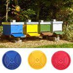 Buachois 3 Pièces en Plastique RU-Che Porte D'entrée Porte Ronde Abeilles Nid Accessoires équipement D'apiculture Outil De RU-Che