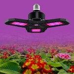 CalmGeek Lampe de croissance LED déformable pour plantes d'intérieur – 3 panneaux – Pliable à 90 ° – E27 – Spectre rouge et bleu