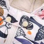Dinnesis Manteau pour bébé avec capuche – Adorable imprimé à manches longues – Coupe-vent chaud – Fermeture éclair – Vêtement d'hiver pour bébé – Pour garçon et fille, #18, 110 cm