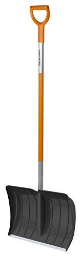 Fiskars Poussoir à neige, Largeur: 52 cm, Tête en plastique/Manche en aluminium, Noir/Orange, SnowXpert, 1003469