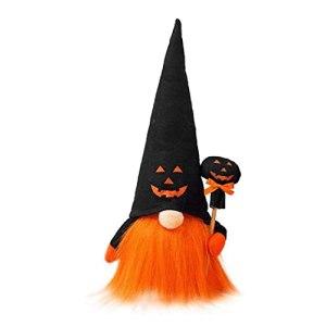 Halloween GNOME Poupée Pumpkin Fantôme Figurine Figurine Table Décorations avec Lampes À LED Halloween Décoration Maison De Vacances Décor (Pas De Batterie)