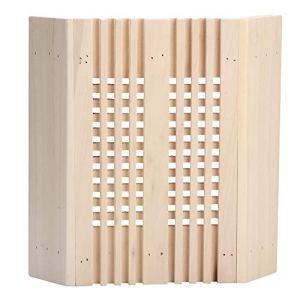HERCHR Accessoires en Bois de pièce de Vapeur de Couverture légère de Coin en Bois carrée d'ombre de Lampe de Sauna, Ajustement pour l'hôtel de Salle de Bains