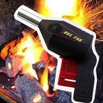 Jjsm Ventilateur de cuisson électrique portable pour barbecue – Outil pour extérieur, camping, pique-nique, barbecue