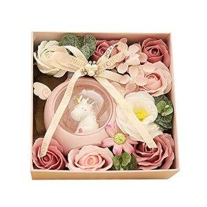 MAVL Cadeau Fete des Meres Boite Roses eternelle petale de Rose eternels Floral Savon Fleur pétales,en Forme Best for Filles Anniversaires Maman (Couleur : Blanc)