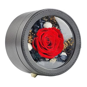 MAVL Cadeau Fete des Meres Naturelle Boite Roses eternelle petale de Rose eternels Coffret éternel Rose, fraîche à la Main for Elle Le Jour l'anniversaire, noël, fête mères, Saint-Valentin