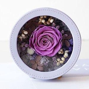 MAVL Cadeau Fete des Meres Naturelle Boite Roses eternelle petale de Rose eternels Roses préservées réelles Rose dans Une boîte jamais fanée Roses Qui Dure 365 Jours Cadeau for Elle