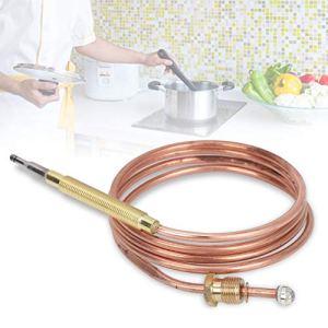 Nunafey Changement de thermocouple Fonctionne avec l'électrovanne du thermocouple à gaz, Le thermocouple de la cuisinière à gaz, Facile à Utiliser pour la cuisinière à gaz pour Le Chauffe-Eau pour