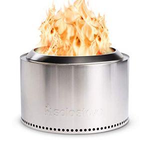 Solo Foyer extérieur sans fumée en acier inoxydable 68,6 cm Idéal pour S'Mores et Hot Dogs