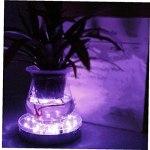 Sous Vase Light RVB Grow Base Vase Lumière avec télécommande pour la pièce maîtresse de table (pas de batterie) lumière de nuit décorative