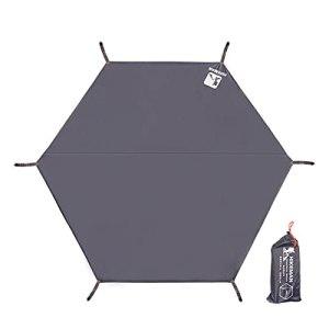 Tapis de sol imperméable hexagonal pour tente de camping, hamac, hamac, abri de pluie, abri de plage, tapis de sol, tapis de pique-nique, parasol pour pique-nique, randonnée, activités de plein air