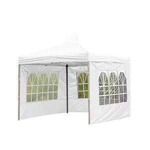 Tente d'extérieur en tissu Oxford 210D imperméable, résistante à la pluie, coupe-vent et protection solaire transparente, 3 m (blanc)