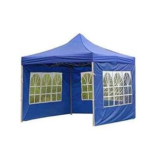 Tente d'extérieur en tissu Oxford 210D imperméable, résistante à la pluie, coupe-vent et protection solaire transparente, 3 m (bleu)