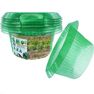 VDYXEW Collerette anti-escargots pour plantes de salade et charbon, protection contre les escargots sans produits chimiques, protection des plantes de salade en plastique (15 pièces)