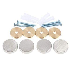 Vis de miroir, clous décoratifs en laiton pour miroir, Φ25 mm, nickel satiné, 4 pièces