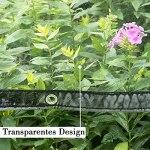 WOLTU Bâche Transparente avec Oeillets Bâche de Protection Imperméable 380g/m² PVC Protection de Vent Pluie Soleil pour Serre Jardin Pergola 2 x 4 m