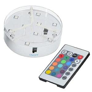 Yililay Vase Lumières, sous Vase lumière, LED RGB Base Vase lumière avec télécommande pour Le Centre de Table (sans Batterie)