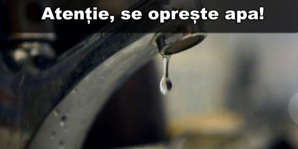 Apa Prod anunță pentru LUNI, 19 iunie, sistări  de apă la HUNEDOARA