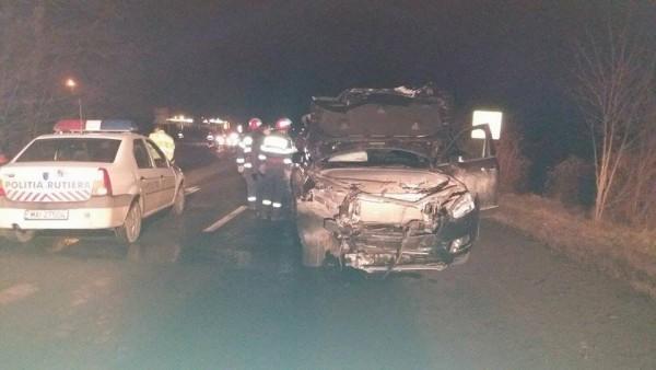 ACCIDENT la Orăștie! Trei autovehicule implicate!