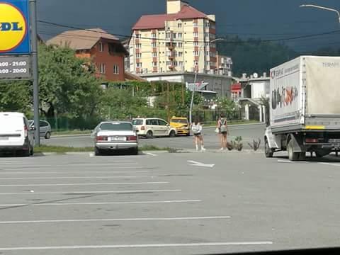 Accident rutier în zona magazinului  Lidl din Petroșani