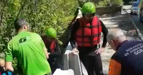 Rafting cu sfârşit dramatic pe Jiu