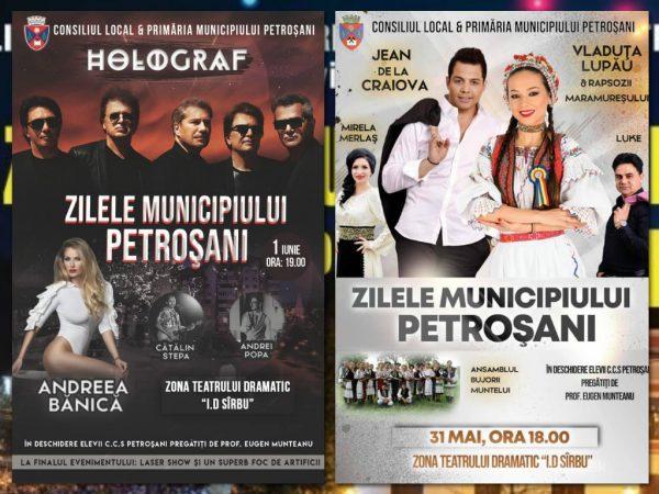 Află aici cine cântă la Zilele municipiului Petroșani