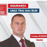 """Cristian Resmeriță: """"Campania mea electorală constă nu în promisiuni, ci chiar în legile prin care am răspuns așteptărilor cetățenilor"""""""