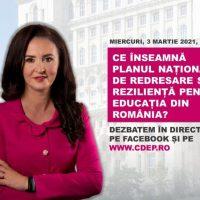 Care este locul Educației în Planul Național de Redresare și Reziliență ?