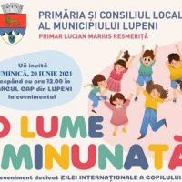 Duminică, 20 iunie 2021, o zi pentru toți copiii, la Lupeni