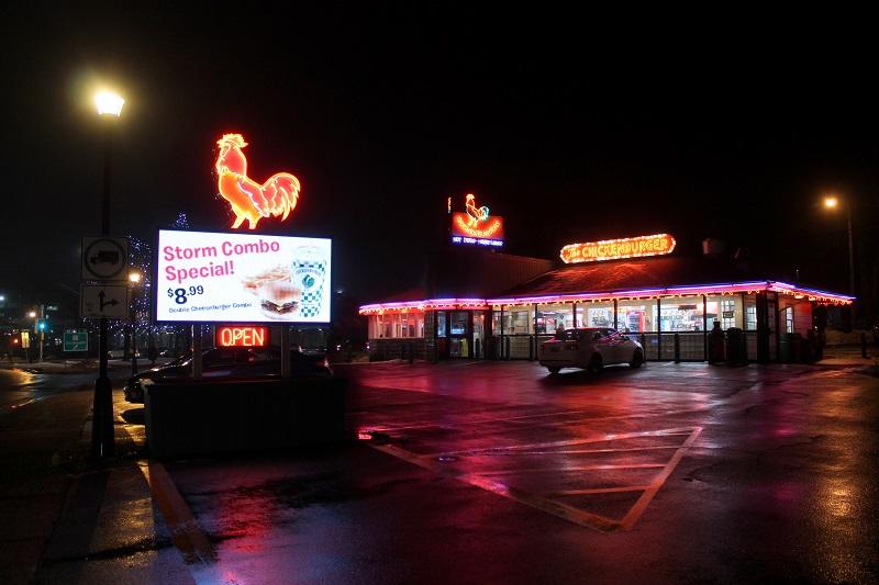Chickenburger Restaurant, Storm Combo, Bedford, NS,
