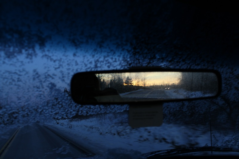 complementary colours, cool warm colours, rear view, winter,