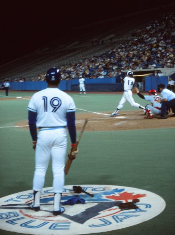 baseball, Toronto Blue Jays, 1978, Exhibition Stadium, Otto Velez, Tom Hutton, Avard Woolaver