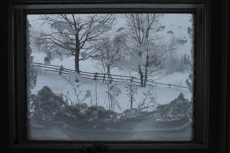 window, frame, winter,