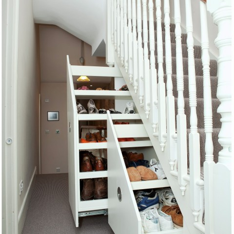 Under stairs storage ideas  Gallery 14  North London