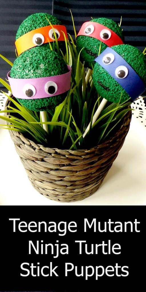 Teenage Mutant Ninja Turtle stick puppets