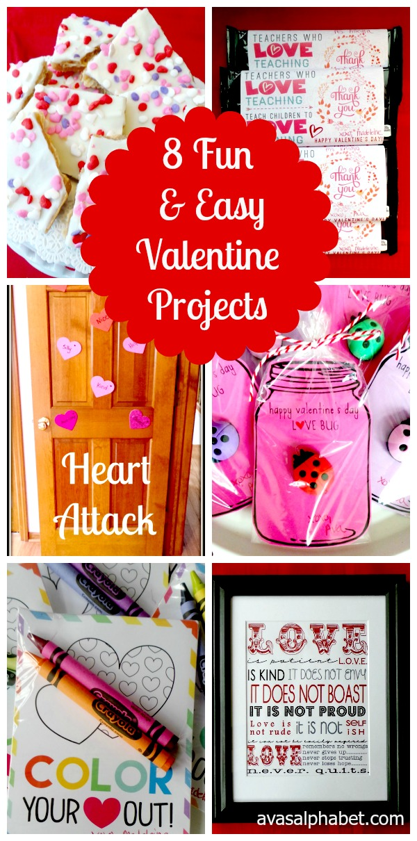 8 Fun & Easy Valentine Projects