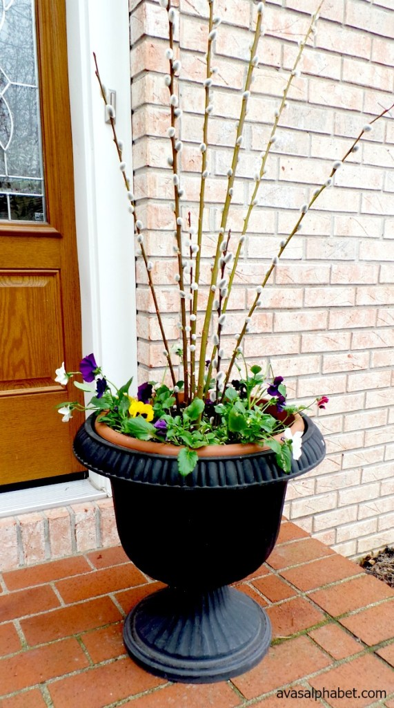 Spring Porch Arrangements
