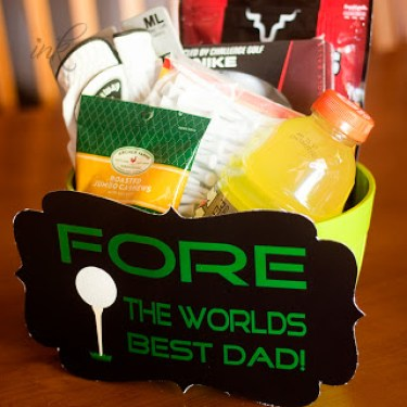 Fore The World's Best Dad gift basket