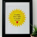 Sunshine and Love Printable Wall Art
