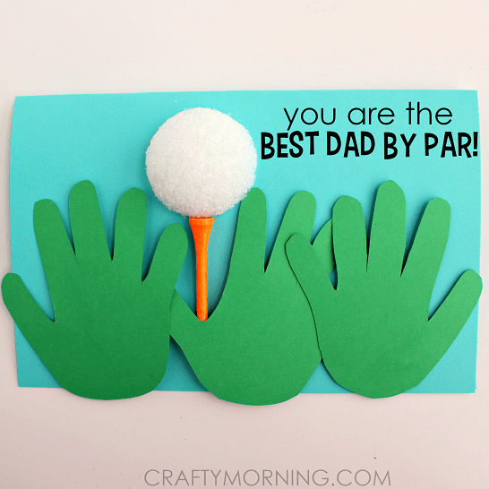 Handprint Golf Ball Father's Day Card