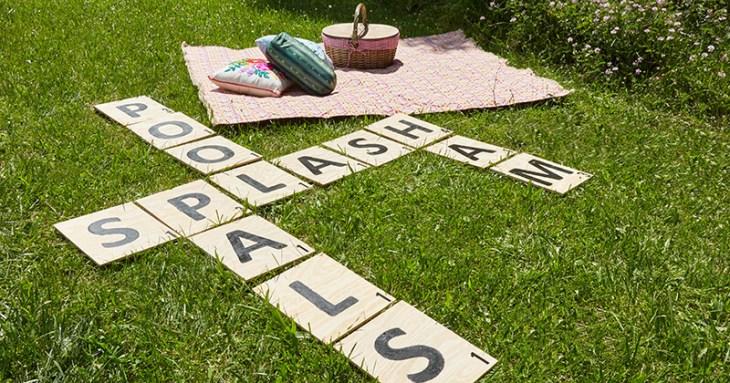 Life Sized Lawn Scrabble