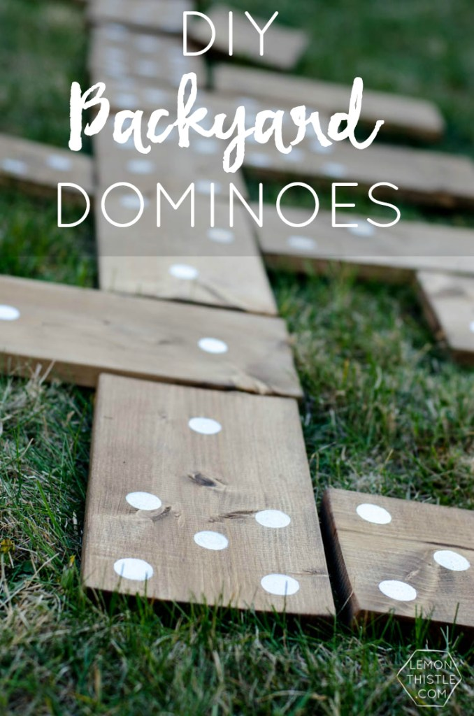 DIY Backyard Dominoes