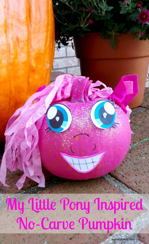 My Little Pony Inspired No-Carve Pumpkin