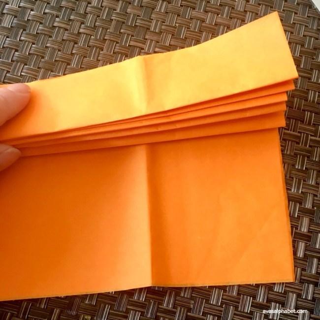Tissue Paper Pom Pumpkin