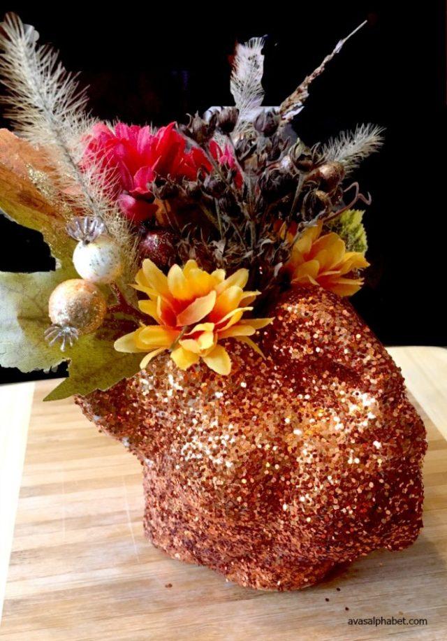 Glitter Turkey Planters