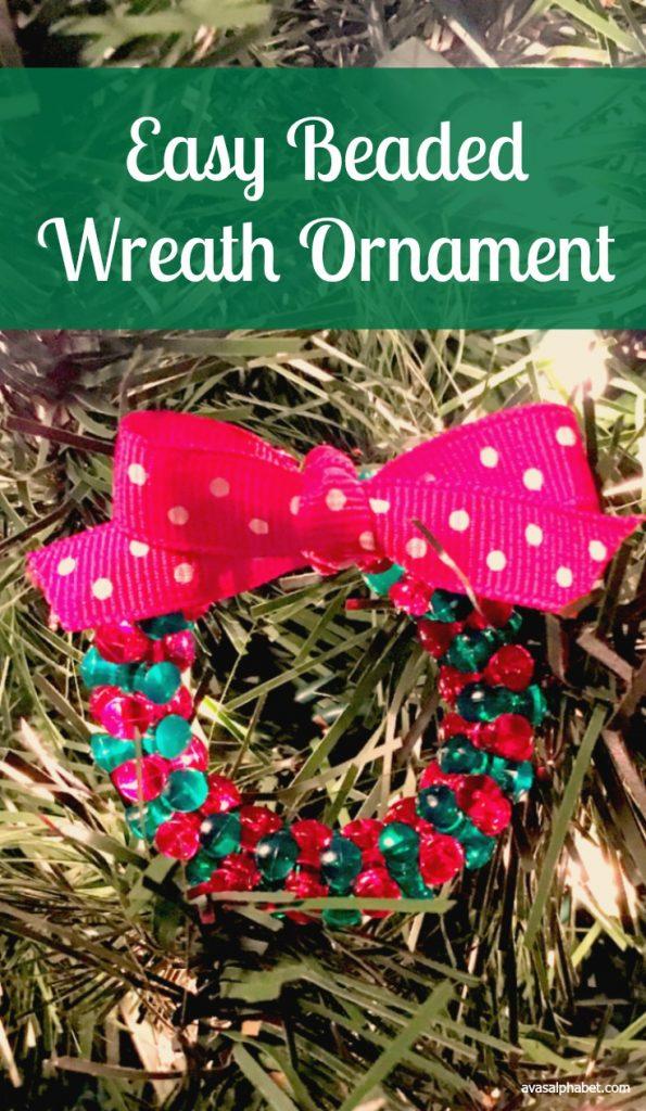 Easy Beaded Wreath Ornament