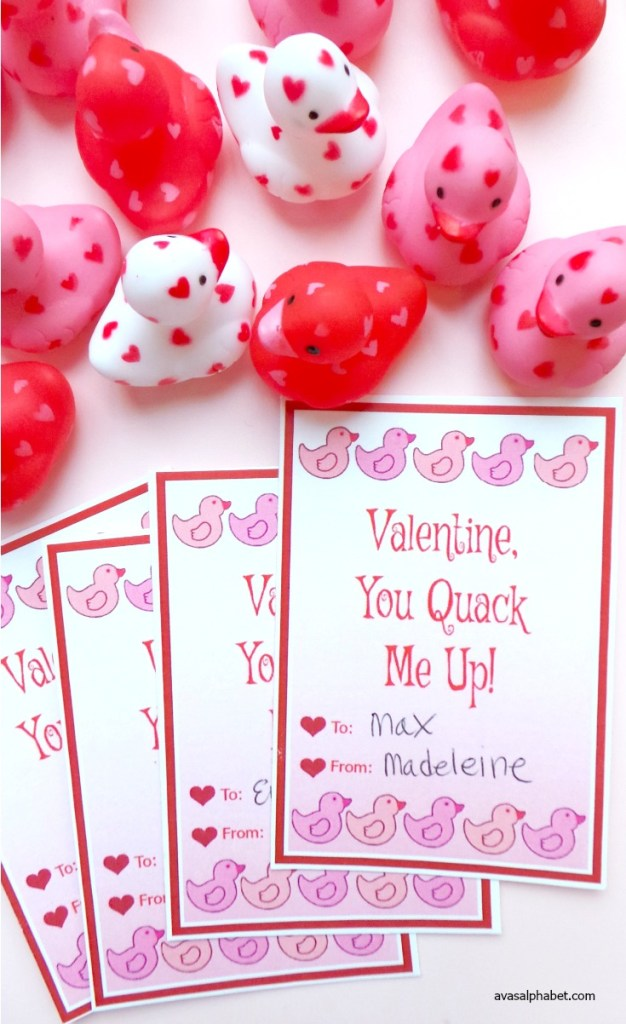 Adorable Rubber Ducky Valentine Cards Ava S Alphabet
