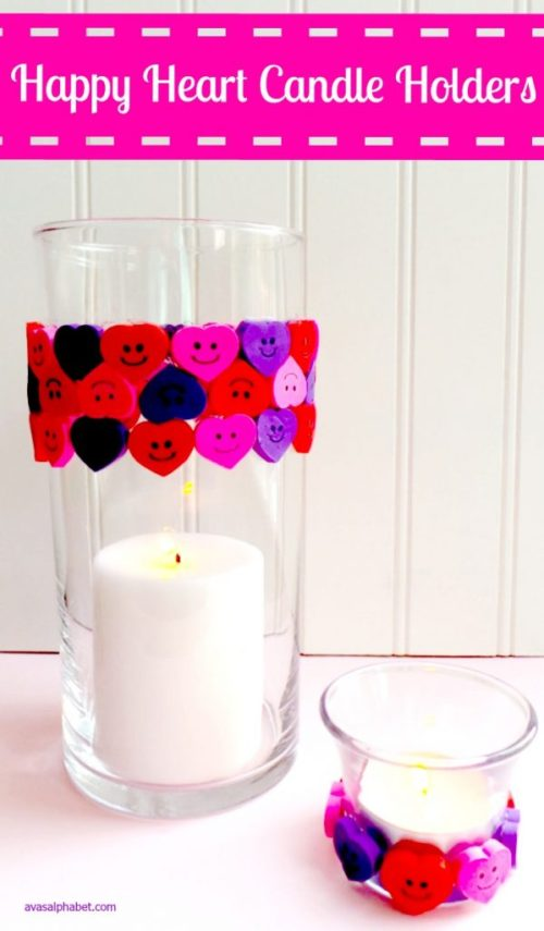 Happy Heart Candle Holders - Ava's Alphabet